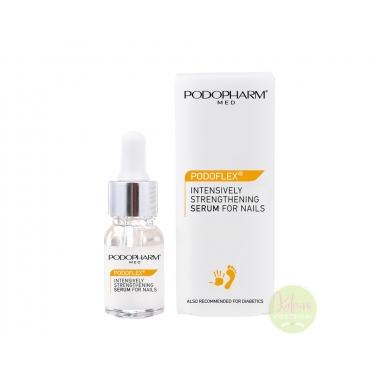 PODOPHARM PODOFLEX® INTESIVELY STRENGHTENING SERUM FOR NAILS küüneseerum kahjustatud ja nõrgenenud küünete intensiivseks taastamiseks, 10 ml