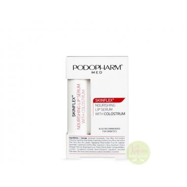 PODOPHARM SKINFLEX® Nourishing lip serum with colostrum toitev huulepalsam ternespiimaga, 4,9g
